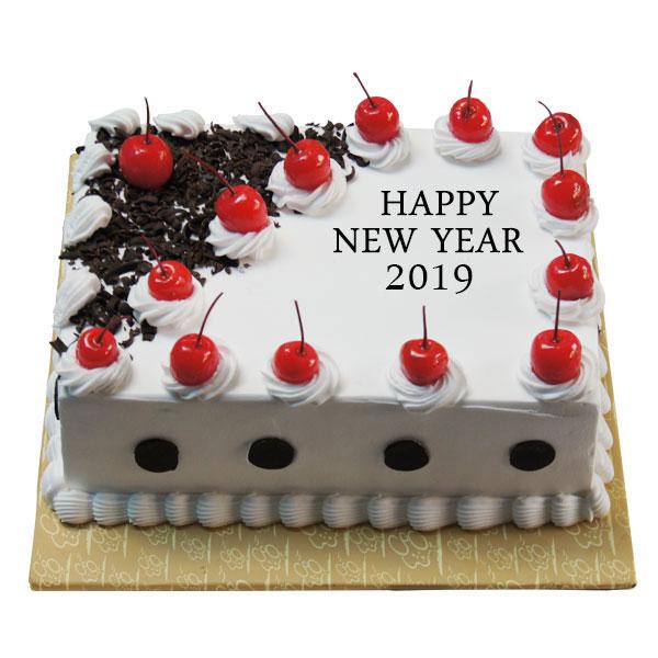 New Year Blackforest Cherry Cake